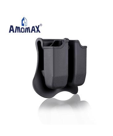 Amomax Amomax Hardshell Dbl Mag Pouch Glock Mag, Blk