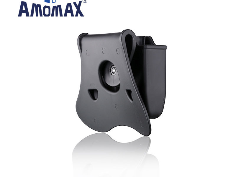 Amomax Amomax Hardshell Double Magazine Pouch for Glock Magazines, Black