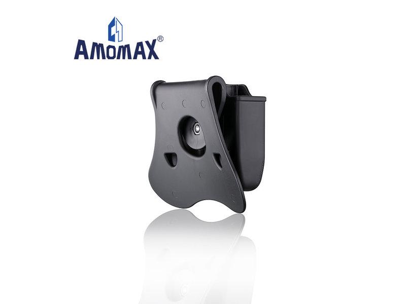 Amomax Hardshell double magazine pouch for Glock magazines, flat dark earth