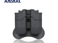 Amomax Amomax Hardshell Dbl Mag Pouch H&K & Sig P320/M17 Mag, Blk