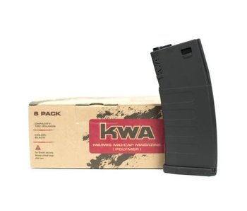 KWA KM4 K120 Mid-Cap Magazine 6-Pack, Black