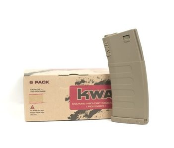 KWA KM4 K120 Mid-Cap Magazine 6-Pack, Flat Dark Earth