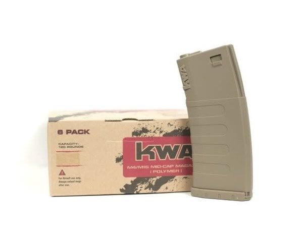 KWA KWA KM4 K120 Mid-Cap Magazine 6-Pack, Flat Dark Earth
