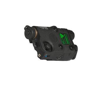 UKARMS AN/PEQ15 LED/IR w/ Green Laser BLK
