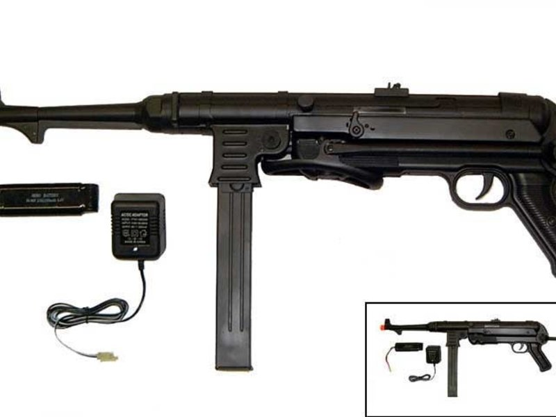 AGM AGM MP40 MP007 Full Metal WWII Electric Rifle with Battery and Charger Black