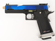 WE Tech WE Hi-Capa 5.1 split slide Electric Blue GBB Pistol