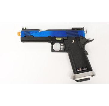 WE Tech WE Hi Capa 5.1 split slide Electric Blue GBB Pistol