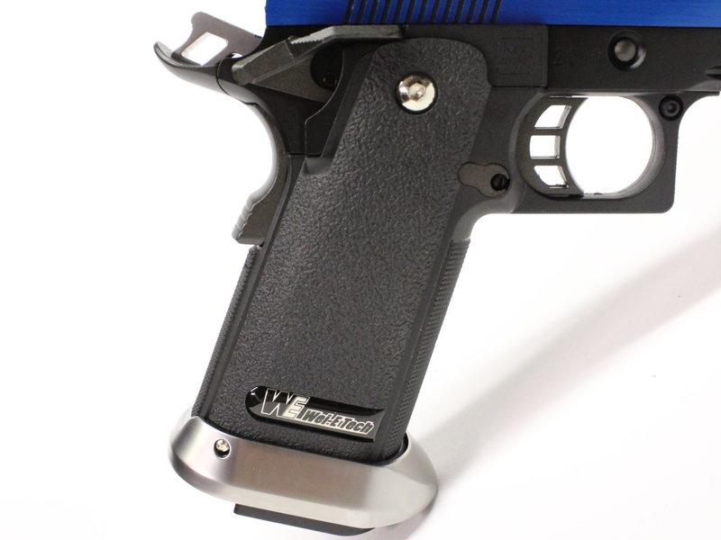 WE Tech WE-Tech Hi-Capa 5.1 split slide Electric Blue Gas Blowback Airsoft Pistol