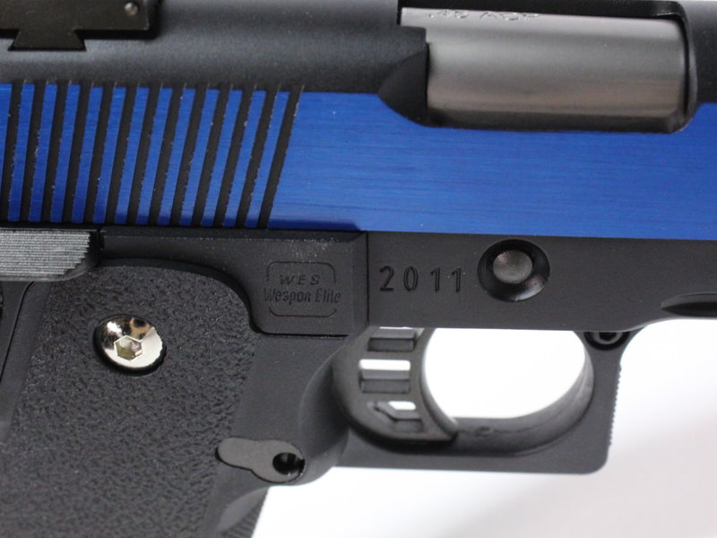 WE Tech WE Hi Capa 5.1 Split Slide Gas Blowback Pistol, Electric Blue