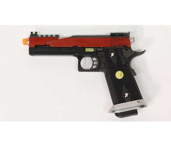 WE Hi Capa 5.1 split slide gas blowback pistol, red