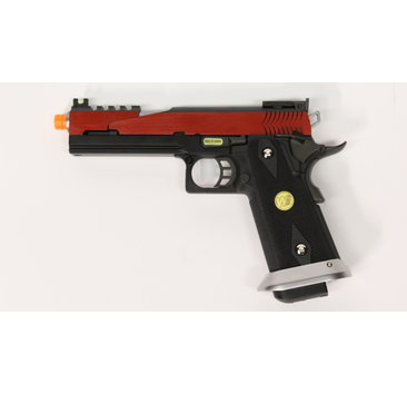 WE Tech WE Hi Capa 5.1 split slide Red GBB pistol