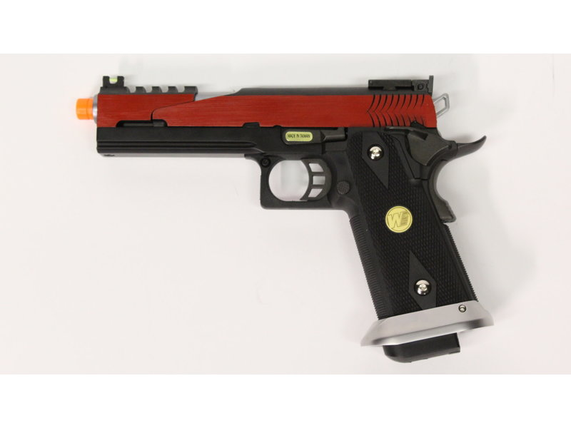 WE Tech WE Hi Capa 5.1 split slide gas blowback pistol, red