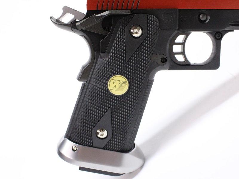WE Tech WE Hi Capa 5.1 Split Slide Gas Blowback Pistol, Red