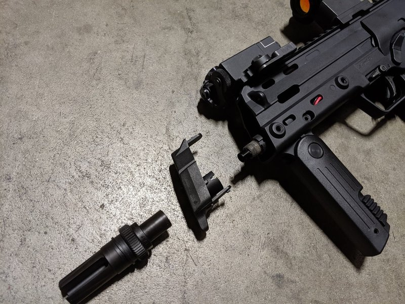 PTS PTS MP7 51T AAC Blackout Flash Hider 12mm CW for Umarex MP7 AEG and KWA MP7 GBB SMG