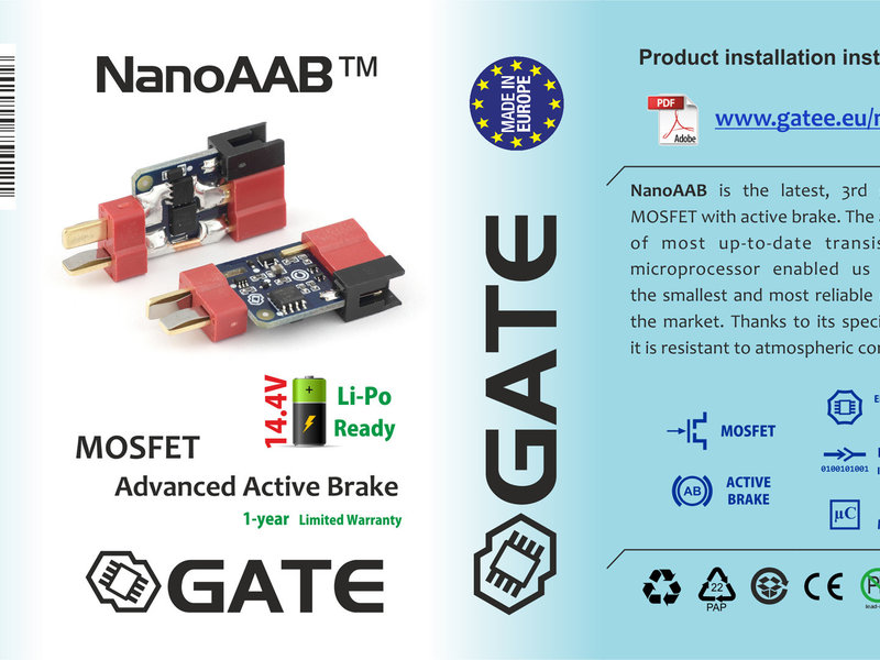 GATE GATE NanoAAB 3rd Gen Active Braking MOSFET with eFuse