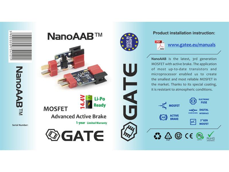 GATE GATE NanoAAB 3rd Gen AB MOSFET w/ eFuse