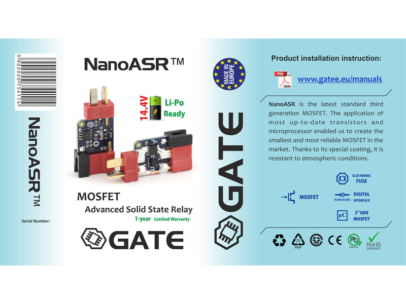 GATE GATE NanoASR 3rd Gen MOSFET w/ eFuse