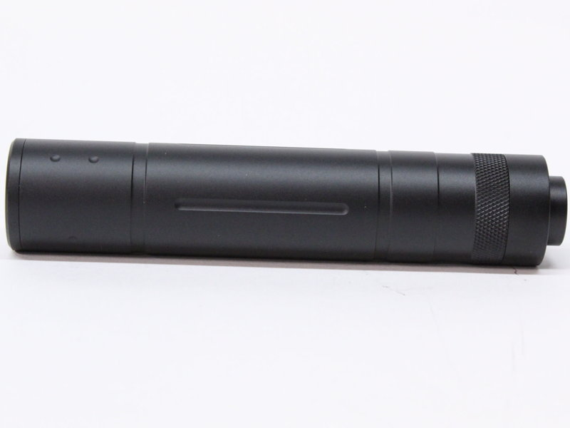 Castellan notched silencer, 155mm, 14mm Counterclockwise thread