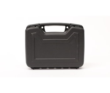 "Single 10"" handgun case, hard plastic, black"