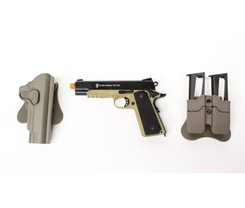 Elite Force Tactical 1911 Gunfighter package, black/dark earth