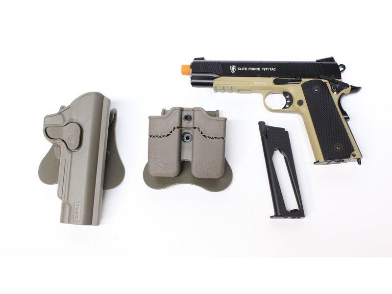Elite Force Elite Force Tactical 1911 Gunfighter package, black/dark earth