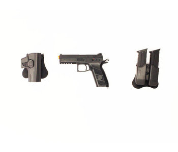 ASG CZ P-09 Gunfighter package, metal slide, black