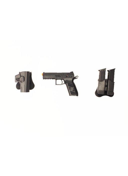 ASG CZ P-09 Gunfighter package, metal slide, black