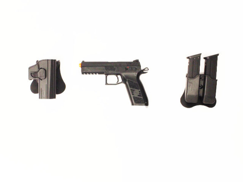 ASG ASG CZ P-09 Gunfighter package, metal slide, black