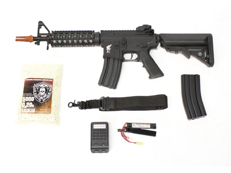Airsoft Extreme Apex M4 CQB/R electric rifle Warfighter package, black