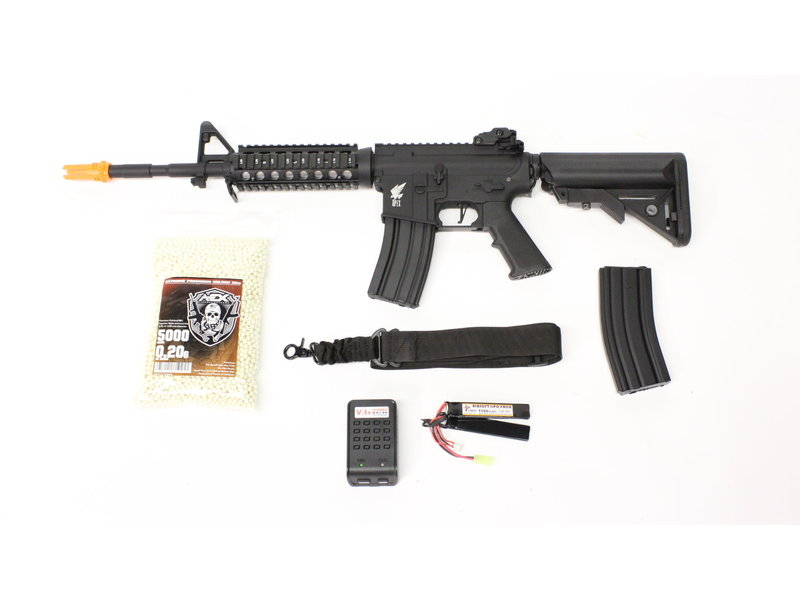 Airsoft Extreme Apex M4 RIS electric rifle Warfighter package, black/gray