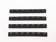 M-Lok Rail Cover, Black, Long, 4-Pack
