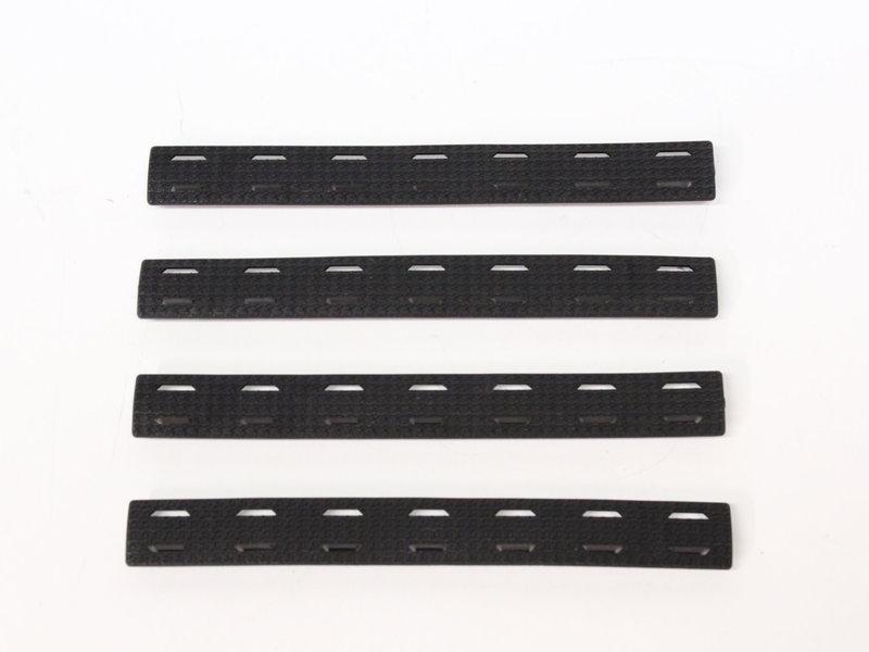 Castellan M-Lok Rail Cover, Black, Long, 4-Pack