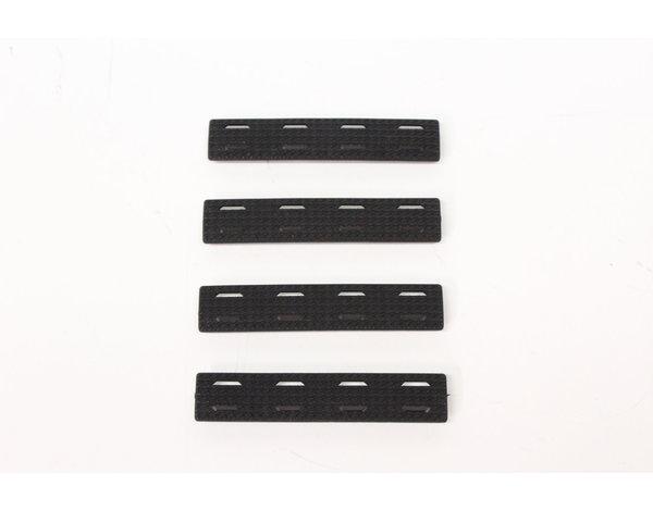 Castellan M-Lok Rail Cover, Black, Short, 4-Pack