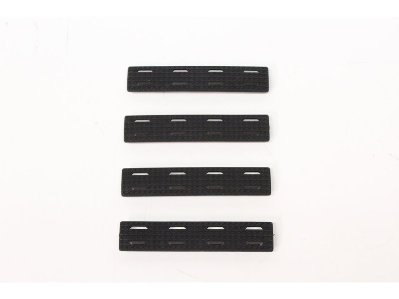M-Lok rail cover, black, short, 4 pack