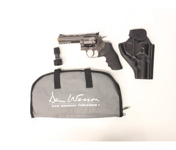 "ASG Dan Wesson 715 CO2 Revolver 4"" Grey Gunfighter Package"