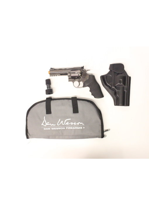 """ASG Dan Wesson 715 CO2 Revolver 4"""" Grey Gunfighter Package"""