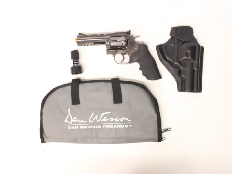 "ASG ASG Dan Wesson 715 CO2 Revolver 4"" Grey Gunfighter Package"