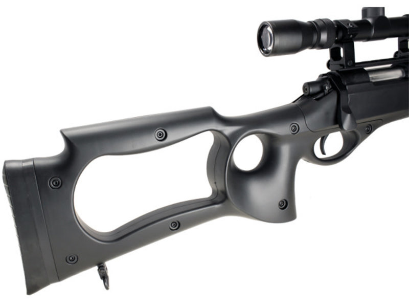 Well WELL MB10 VSR10 Bolt Action Spring Sniper Rifle w/ Fixed Stock and Fluted Barrel