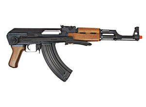 JG JG AK47S Folding Stock AEG, Wood Pattern, Battery / Charger Included