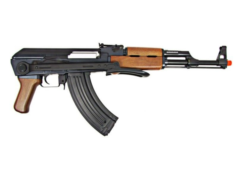 JG JG AK47S Folding Stock AEG, Wood Pattern, Battery / Charger Included
