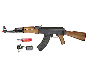 JG AK47 Full Stock AEG, Wood Pattern, Battery / Charger Included