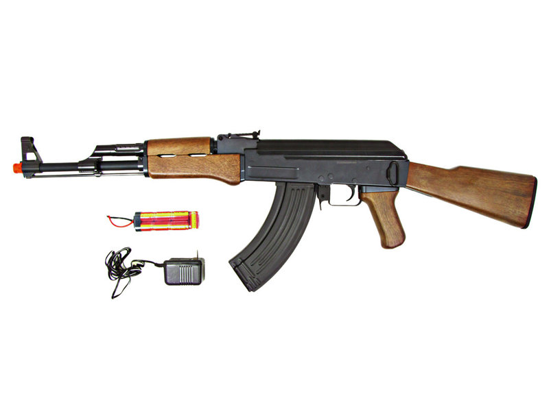 JG JG AK47 Full Stock AEG Wood Pattern w/ Battery and Charger