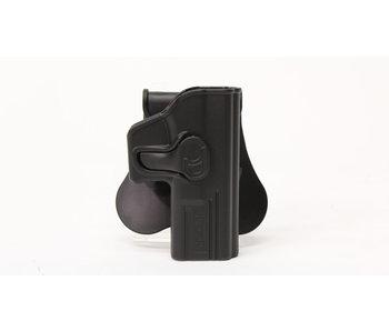 Amomax hardshell holster, Glock 19/23/32, right hand, black