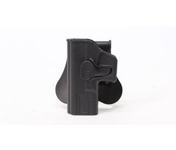 Amomax hardshell holster, Glock 19/23/32, left hand, black