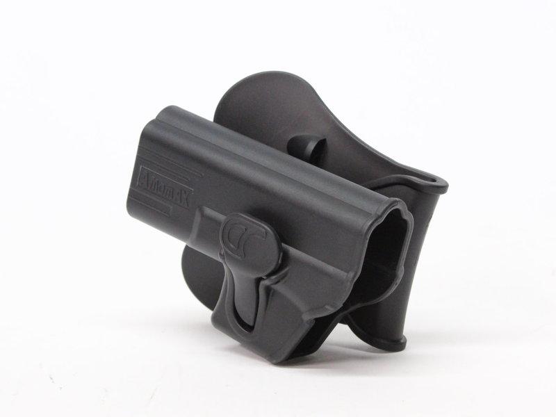 Amomax Amomax hardshell holster, Glock 19/23/32, left hand, black