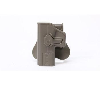 Amomax hardshell holster, Glock 19/23/32, left hand, flat dark earth
