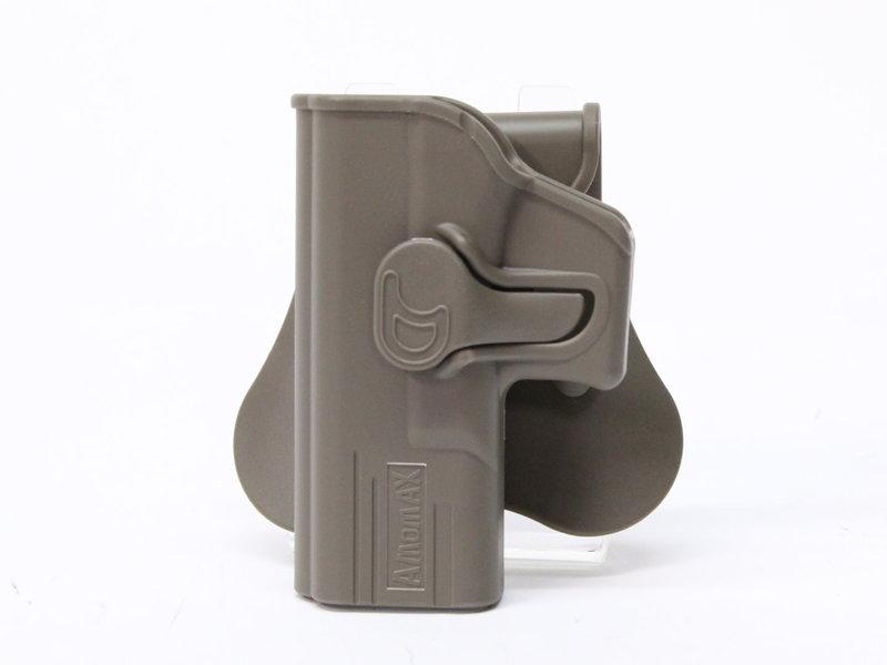 Amomax Amomax hardshell holster, Glock 19/23/32, left hand, flat dark earth