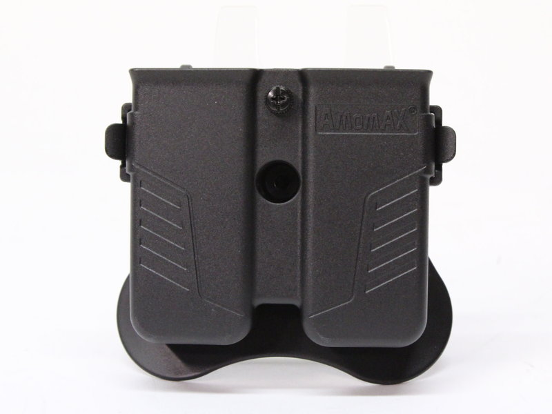 Amomax Amomax Universal Double Magazine Pouch Black