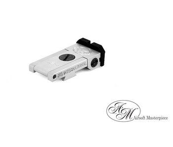 Airsoft Masterpiece Aluminum Rear Sight - S Style Ver. 1 - Silver