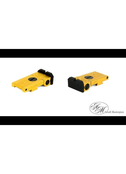 Airsoft Masterpiece Aluminum Rear Sight - S Style Ver. 1 - Gold